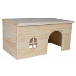 Maison en bois sans clou pour rongeurs - 40 × 20 × 23 cm