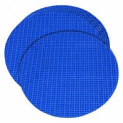 Marqueurs plats bleux pour sports canins diamètre 15 cm lot de 6