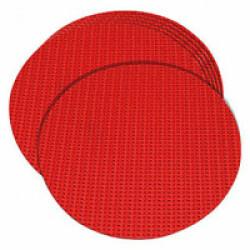 Marqueurs plats rouges pour sports canins diamètre 15 cm lot de 6