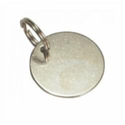 Médaille identité ronde pour chien et chat 24 mm