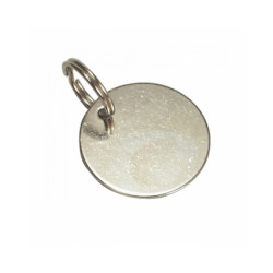 Médaille identité ronde pour chien et chat 29 mm