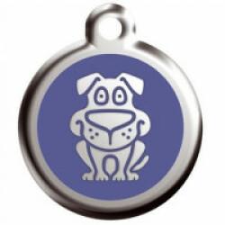 Médaille Reddingo en acier inoxydable pour chien