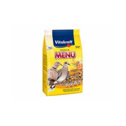Menu Premium mélange de graines pour tourterelles, colombes et cailles Vitakraft - Sachet fraîcheur de 900 g