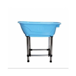 Mini baignoire bleue pour animaux de compagnie