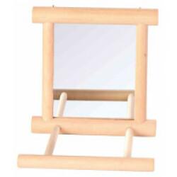 Miroir avec cadre en bois pour oiseaux Trixie