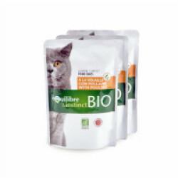 Mitonné Bio Equilibre et Instinct pour chat Adulte Volaille 22 x 100 g