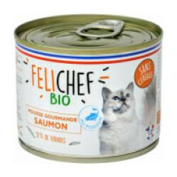 Mousse Bio Felichef pour chat - au saumon (200g)