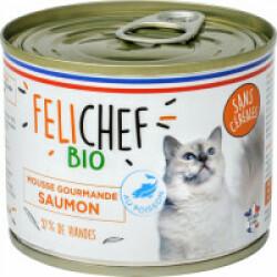 Mousse Felichef Bio pour chat - au saumon (200g)