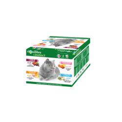 Multipack Effilés Equilibre et Instinct pour chat stérilisé - 24x85g