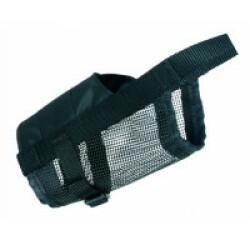 Muselière en nylon noir avec maille Trixie Taille S–M Sangle de nez 14/22 cm (Ex : Caniche)