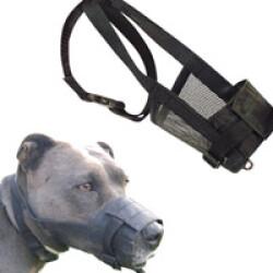 Muselière chien nylon réglable M tour du museau 17 à 23 cm