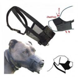 Muselière réglable en nylon pour chien