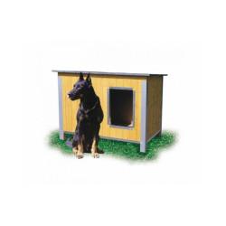 Niche isolée pour chien confort toit simple pan Large - Ouverture longueur