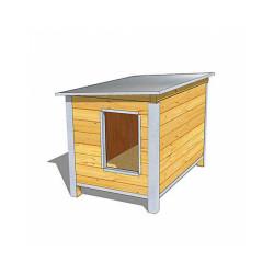 Niche isolée pour chien confort toit simple pan Large - Ouverture largeur