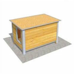 Niche en bois isolée avec toit plat pour chien Medium ouverture largeur - 120 x 75 x 75 cm