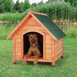 Niche en bois Natura Tradi pour petit chien (71 cm Largeur 77 cm Hauteur 76 cm (Ex : Shetland))
