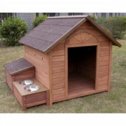 Niche pour chien en sapin Ontario Lifland Taille L Prof 98,5 cm x larg 77 cm x haut 74,5 cm