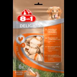 Os à mâcher pour chien en sticks Delight 8 in 1 au poulet Taille S - 6 pièces