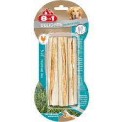 Os à mâcher au poulet Dental sticks 8 in 1 Delights - 3 pièces
