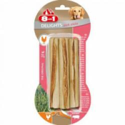 Os à mâcher pour chien saveur porc 8 in 1 Delights - 3 sticks