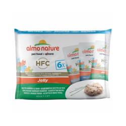 Pâtée pour chat HFC Jelly Almo Nature - Lot de 6 sachets en gelée x 55 g Thon