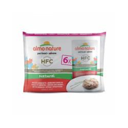 Pâtée pour chat Almo Nature HFC Natural - Multipack 6 pochons x 55 g Poulet et crevettes (Fin de DLUO)