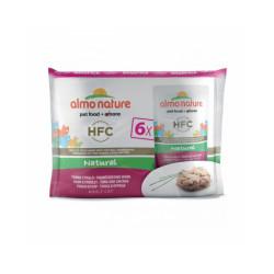 Pâtée pour chat Almo Nature HFC Natural - Multipack 6 pochons x 55 g Thon et poulet