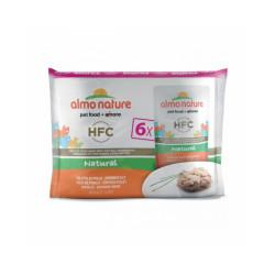 Pâtée pour chat Almo Nature HFC Natural - Multipack 6 pochons x 55 g Filet de poulet