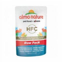Pâtée pour chat HFC Raw Pack Almo Nature - Lot de 6 pochons 55 g Filet de thon Skip Jack