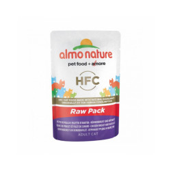 Pâtée pour chat HFC Raw Pack Almo Nature - Lot de 6 pochons 55 g Blanc de poulet et filet de canard
