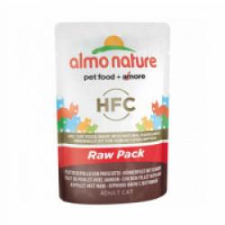 Pâtée pour chat HFC Raw Pack Almo Nature - Lot de 6 pochons 55 g Filet de poulet avec jambon