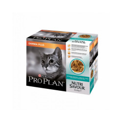 Pâtée pour chat ProPlan Nutrisavour Derma Plus en sauce