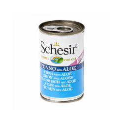 Pâtée pour chaton Schesir en gelée - Boîte 140 g Thon avec aloès