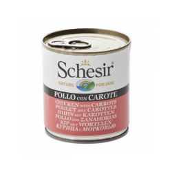 Pâtée pour chien Schesir en gelée - Boîte 285 g Poulet avec carottes