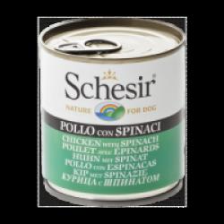 Pâtée pour chien Schesir en gelée - Boîte 285 g Poulet avec épinards