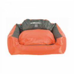Panier coussin d'extérieur orange et gris pour chien Natuna M-Pets