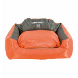 Panier coussin d'extérieur pour chien Natuna M-Pets orange et gris Taille S