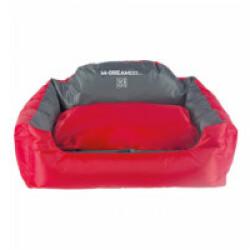 Panier coussin d'extérieur rouge et gris pour chien Natuna M-Pets Taille S