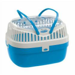 Panier de transport Aladino en plastique bleu Ferplast pour rongeurs