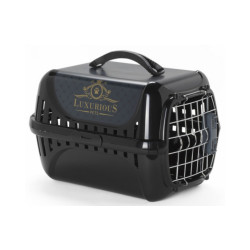 Panier de transport noir pour chat Trendy Runner Luxurious Norme IATA