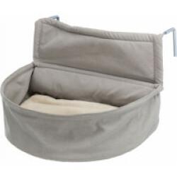 Panier douillet XXL pour chat adaptable radiateur - Tissu Coloris Crème