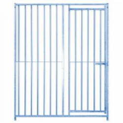 Panneau Eco + Barreaux avec porte pour construction de chenil en kit pour chien Lg 1,5 m