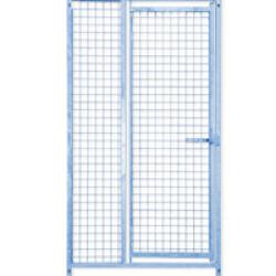 Panneau Pro maille grillage pour construire chenil ou chatterie en kit avec porte Lg 1m
