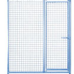 Panneau Pro maille grillage pour construire chenil ou chatterie en kit avec porte Lg 1,5 m