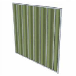 Panneau de chenil renforcé en tôle laquée verte pour chien Small - 1  x 1,82 m