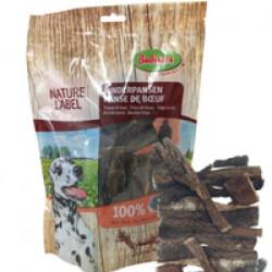 Morceaux de panse de bœuf séchée pour chien sachet 200 g