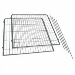Extension pour parc à chiot intérieur/extérieur - 2 panneaux supplémentaires (90x95cm)