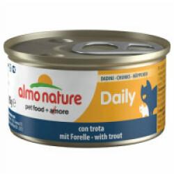 Pâtée pour chat Almo Nature Daily Menu - lot 6 boîtes 85 g Morceaux de truite
