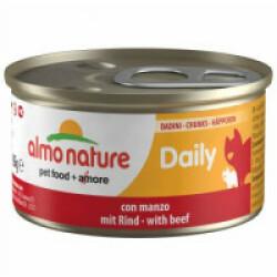 Pâtée pour chat Almo Nature Daily Menu - lot 6 boîtes 85 g Morceaux de boeuf