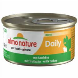 Pâtée pour chat Almo Nature Daily Menu - lot 6 boîtes 85 g Mousse avec dinde